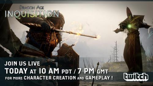Dragon Age: Инквизиция - новый стрим от разработчиков!