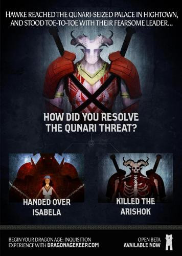 Опрос по Dragon Age: Инквизиция