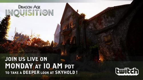 Стрим от разработчиков Dragon Age: Инквизиция - уже сегодня!